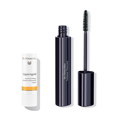 Dr. Hauschka Lip Care Stick & Volume Mascara 01