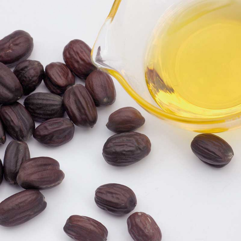 Jojoba and almond oil for natural cosmetics